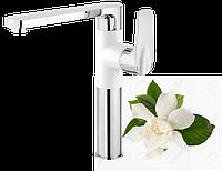 Змішувач для мийки Deante GARDENIA з прямокутним виливом, хром/білий, фото 1