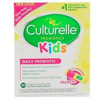 Culturelle, Для детей, ежедневный пробиотик, без ароматизаторов, 30 отдельных порционных пакетиков