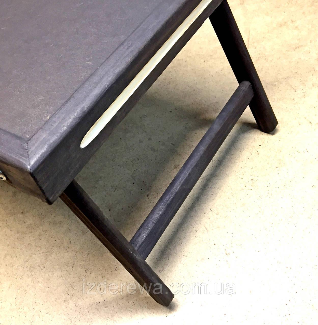 Столик-поднос для завтрака Даллас графит - фото 4