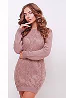 Женское вязаное платье-туника