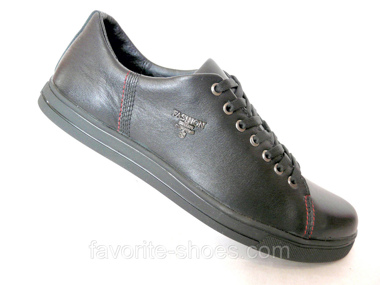 c40213c12 Кожаные мужские кроссовки Fashion чер. - Интернет - магазин