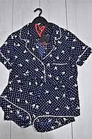 Комплект рубашка и шорты, пижамы женские.