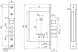 Замок врезной нижний, сувальдный ПРО-САМ ЗВ9-6/15(КС-70)РФ-002.Ш3.У4, фото 2