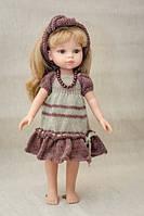 Коричневое платье с повязкой Handmade для кукол Paola Reina, 32 см