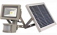 LMP9-10 Прожектор LED АВТОНОМНЫЙ солничная батарея+аккумулятор 10w датчик движения IP65 800lm LEMANSO