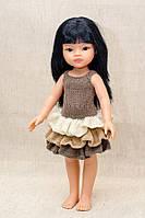 Коричневое платье Handmade для кукол Paola Reina, 32 см