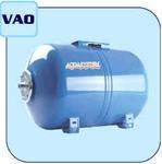 Гидроаккумулятор, бак расширительный, 24л, Aquasystem, VAO 24 горизонтальный