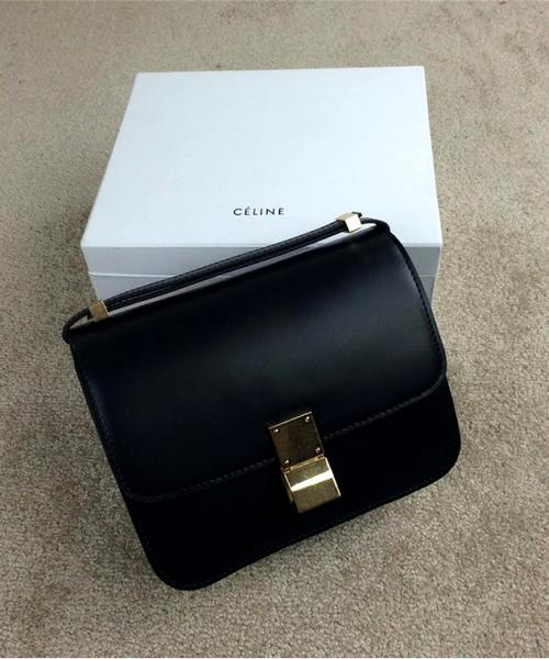 9043451aa46d Женская сумка CELINE Classic Box Shoulder Bag Black (7307) - Интернет- магазин VipSymki