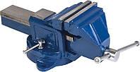 Тиски слесарные поворотные синие  125 мм. Качественный и не дорогой инструмент с доставкой.