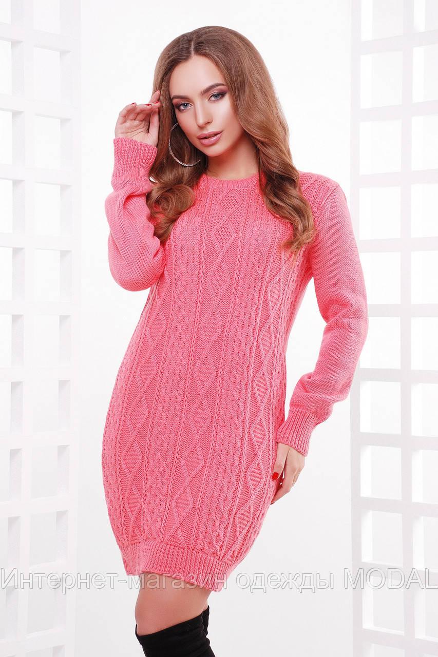 9ba611a327d Теплое вязаное платье туника - Интернет-магазин одежды MODAL в Киеве