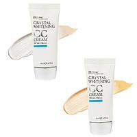 Увлажняющий СС крем (сияющий беж/натуральный беж) 3W CLINIC Crystal Whitening CC Cream SPF50 PA+++