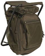 Туристический (рыболовный) стул рюкзак Sturm Mil-Tec olive 20 л. 14059001