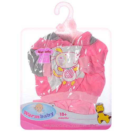 Костюм для Беби Борн розовая собачка