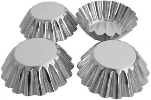 "Набор форм для выпечки ""Кекс""д.7см  метал. 4шт Китай - 06280"