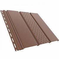 Панель софит Bryza 310x4000 мм коричневая перфорированная