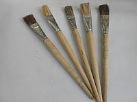 Кисточка художественная плоская 25 мм из натуральной щетины