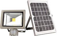 LMP9-20 Прожектор LED АВТОНОМНЫЙ солничная батарея+аккумулятор 20w датчик движения IP65 1600lm LEMANSO