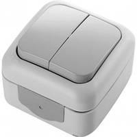 Выключатель 2-клавишный накладной Viko Palmiye 90555402 IP54