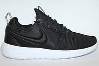 Кросовки  Nike Casual Roshe Two Breathe Black Black White Glacier Blue