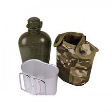 Армейская фляга с подстаканником USA Mil-tec в чехле (1 L) 14506020, фото 3