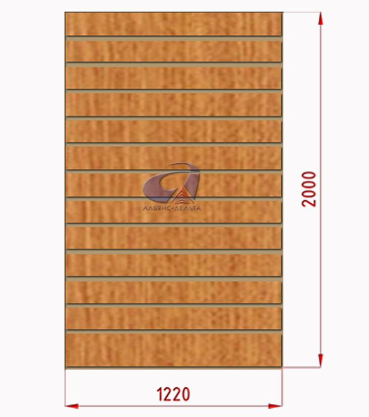 Экспопанель (экономпанель) Н=2440мм, W=1000мм, светлый дуб