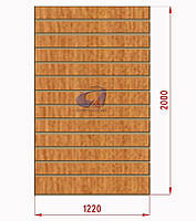 Экспопанель (экономпанель) Н=2440мм, W=1220мм, светлый дуб, фото 1