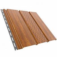 Панель софит перфорированная Bryza 310x4000 золотой дуб
