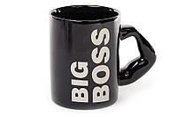Кружка керамическая черная 500мл Big Boss, Биг Босс