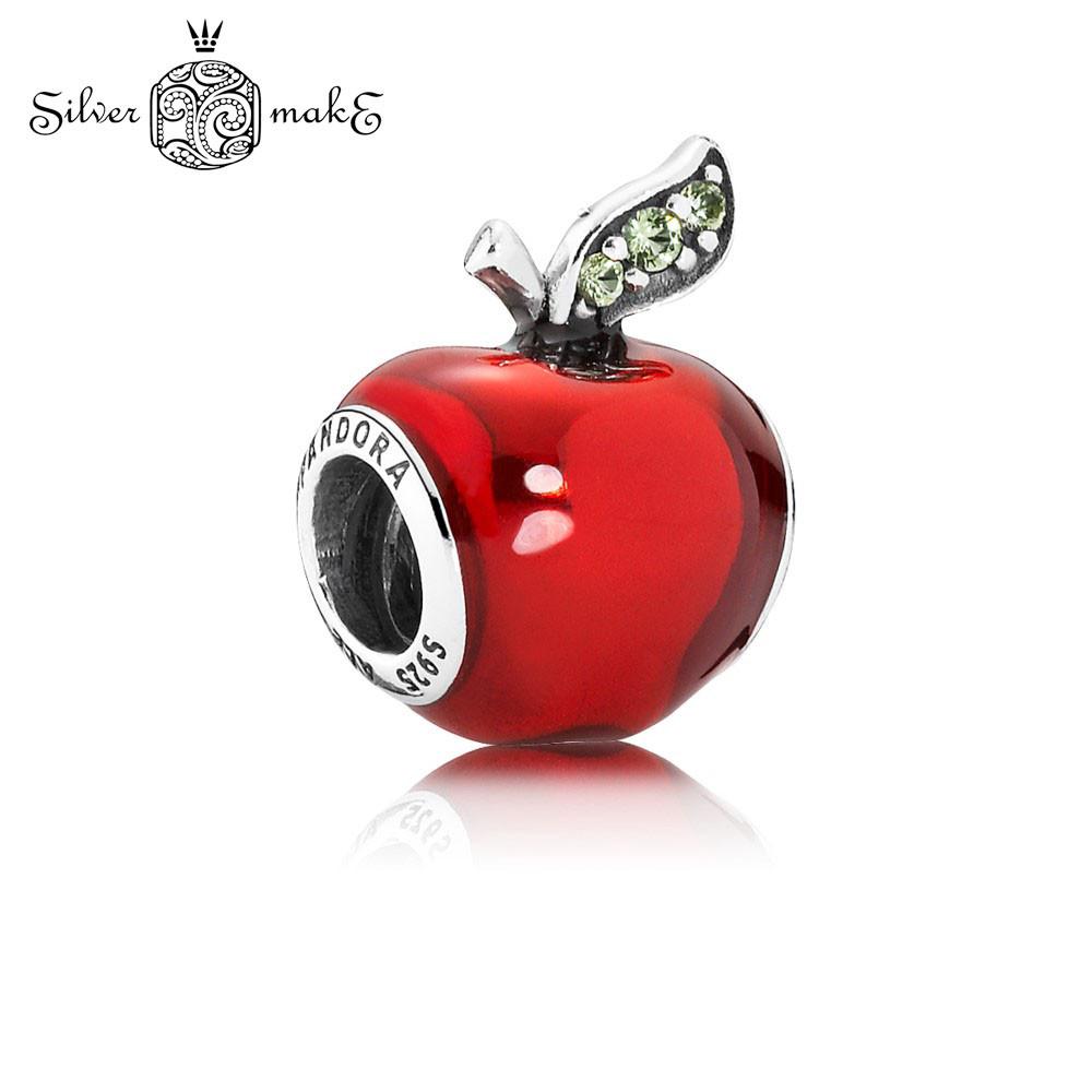 Pandora Шарм Срібло Червоне яблуко. DISNEY
