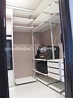 Гардероб на базе алюминиевой системы ГК-101
