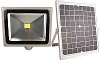 LMP9-50 Прожектор LED АВТОНОМНЫЙ солничная батарея+аккумулятор 50w датчик движения IP65 4000lm LEMANSO