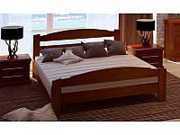 Кровать деревянная Эдель из массива дуба двуспальная