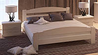 Кровать деревянная Эдель с подъемным механизмом из массива дуба двуспальная