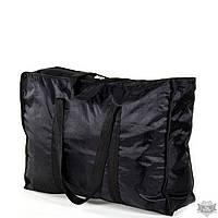 Женская черная сумка из плотной ткани TRAUM