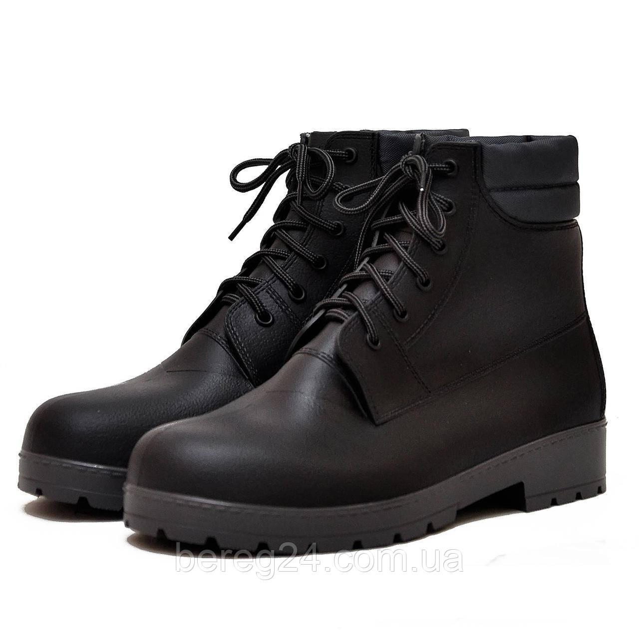Мужские ботинки Nordman Rover черные с серой подошвой ПС 31 размер 45