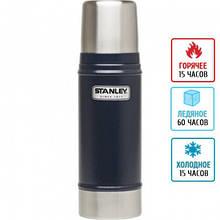 Термос из нержавеющей стали Stanley Legendary Classic (0.47л), темно-синий, для чая, кофе и воды