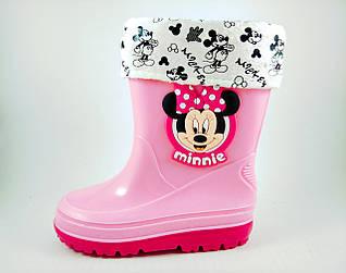 Резиновые сапоги для девочек, розовые Disney