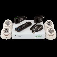 Комплект видеонаблюдения на 4 камеры внутри помещения Green Vision GV-K-G01/04 720Р