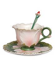 Фарфоровая чайная пара Герань (Pavone) FM- 01/25, фото 1