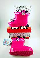 Резиновые сапоги для девочек, малиновые Disney Minnie Mouse Pink