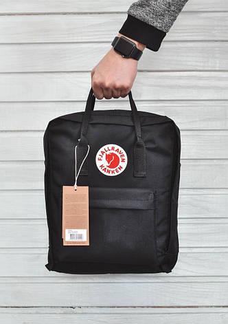 Городской рюкзак в стиле Fjallraven Kanken Classic Black черный, фото 2