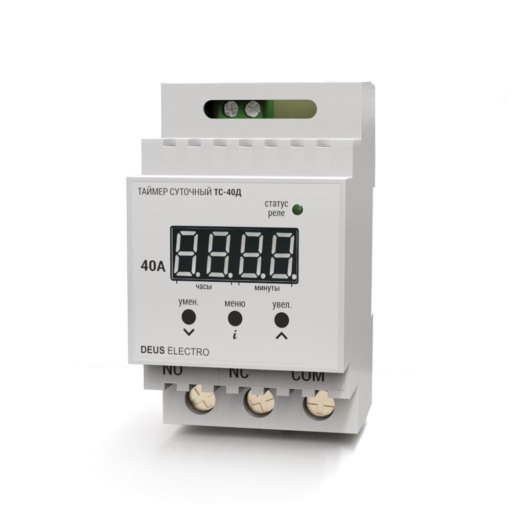 Таймер суточный (реле времени суточное) монтаж на DIN-рейку цифровое одноканальное, нагрузка до 8.8кВт/40А