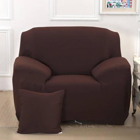 Чехол для Кресла эластичный Бифлекс Кофейный HomyTex, фото 2
