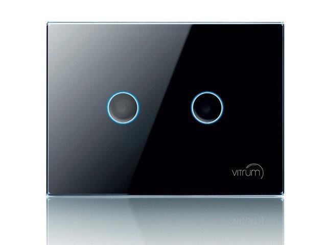 Vitrum II EU On: Off Wireless, Z-Wave, сенсорний 2-канальний вимикач, європейський стандарт