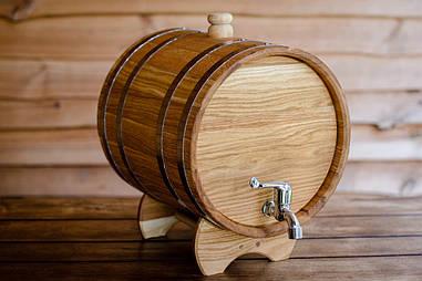 Бочкая дубовая для напитков, 80 литров