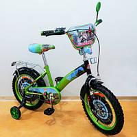 Детский Велосипед TILLY Мотогонщик 16 T-216212 green + black