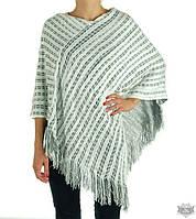 Женская шаль-накидка двойной вязки TRAUM