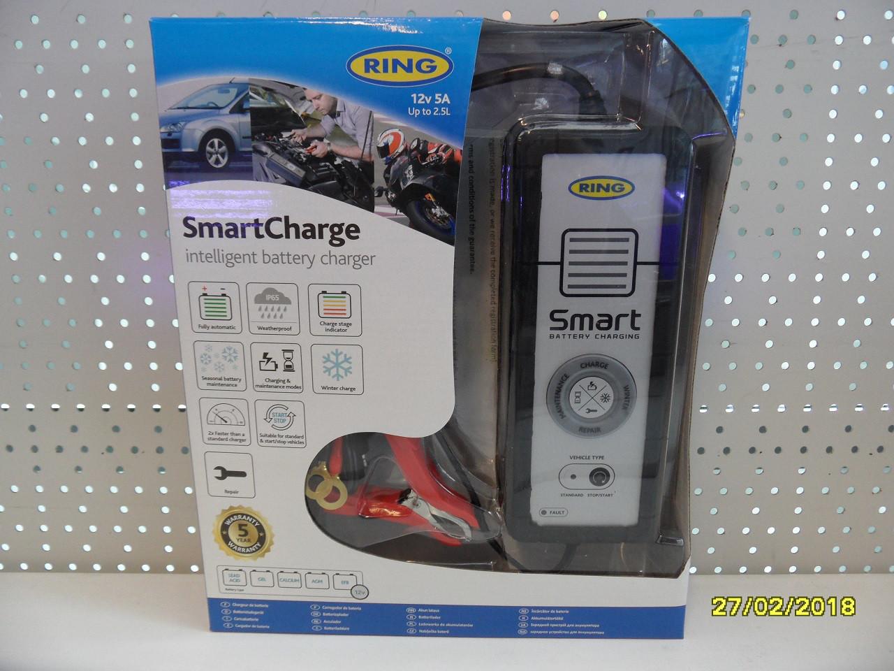 Інтелектуальне зарядний пристрій RING RESC605 12В 5А RESC605