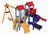 Детский игровой комплекс Авалон с пластиковой и спиральной горкой H-1,5 м + качели