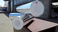 Утеплитель для труб фольгированный диаметром 133мм толщиной 80мм, Скорлупа СКПФ1338035 пенопласт ПСБ-С-35